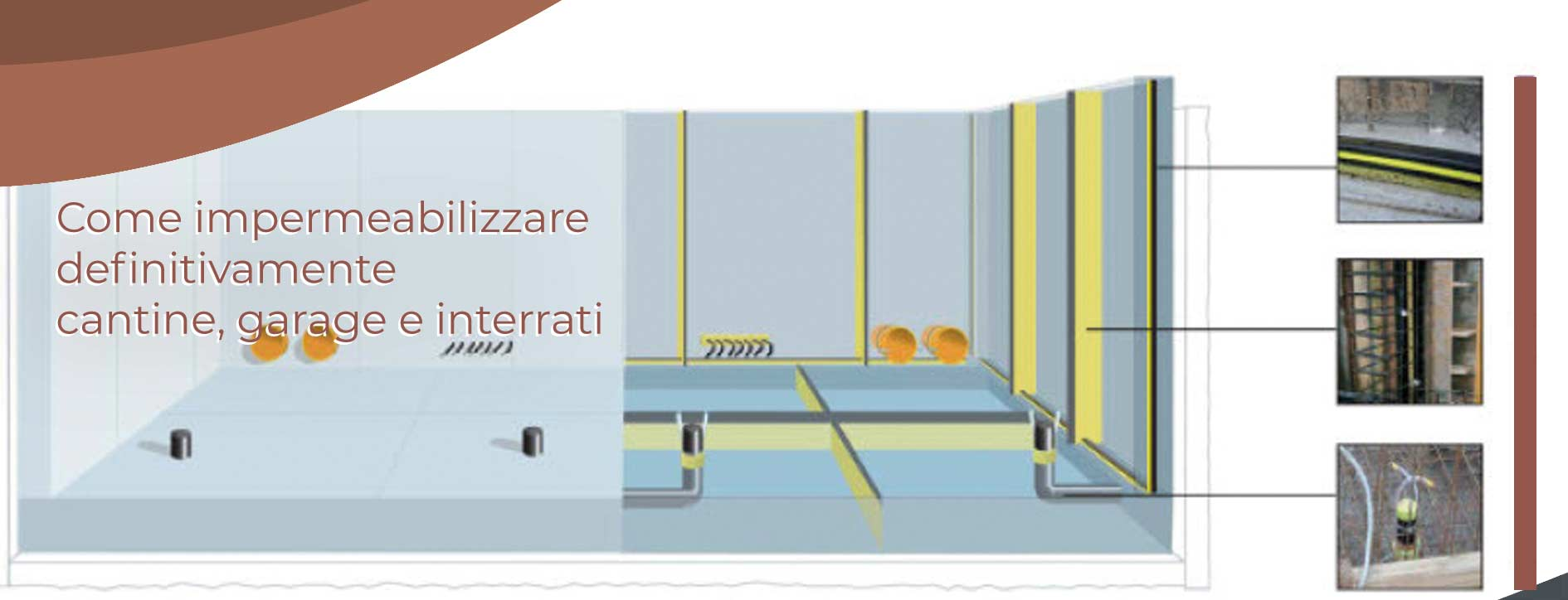 come impermeabilizzare definitivamente cantine, garage e interrati